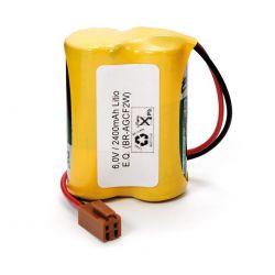 Pilhas de lítio 6V CR17450 com conector