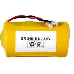 Bateria de Lítio ER34615 cabo e conector