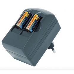 Carregador + pilhas CR123