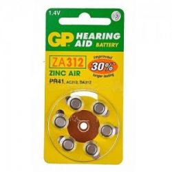 Pilas audifonos GP Mod.ZA312 (Pack 60 pilas)