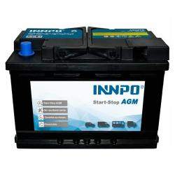 Bateria INNPO AGM 70Ah 760A