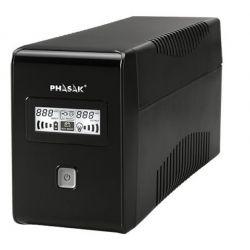 UPS Phasak 1000VA LCD USB com proteção para RJ45