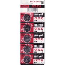 Pack 5 Pilhas Botão-Button Lítio MAXELL CR2032